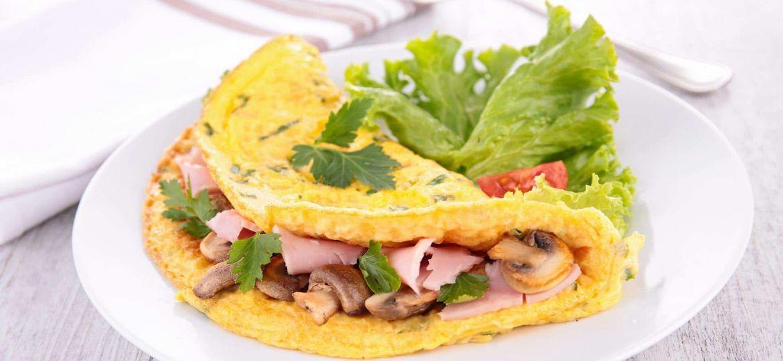 Omelete-de-Fiambre-e-Cogumelos
